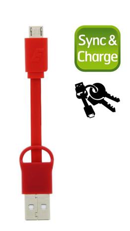 Καλώδιο Micro-USB Energizer POCKETMCRD2, Κόκκινο hlektrikes syskeyes texnologia perifereiaka ypologiston ajesoyar