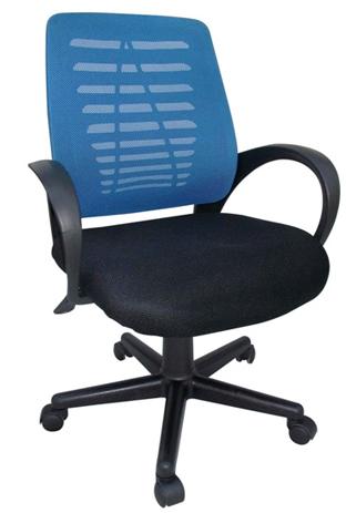 Πολυθρόνα Γραφείου 731817 Μαύρη-Μπλε