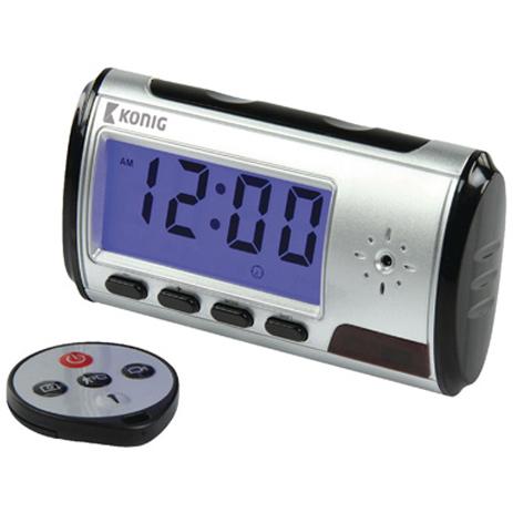 Ρολόι με Κρυφή Κάμερα, Αισθητήρα Κίνησης, Μικρόφωνο & Τηλεχειριστήριο Konig SAS- hlektrikes syskeyes texnologia systhmata asfaleias aytonoma systhmata