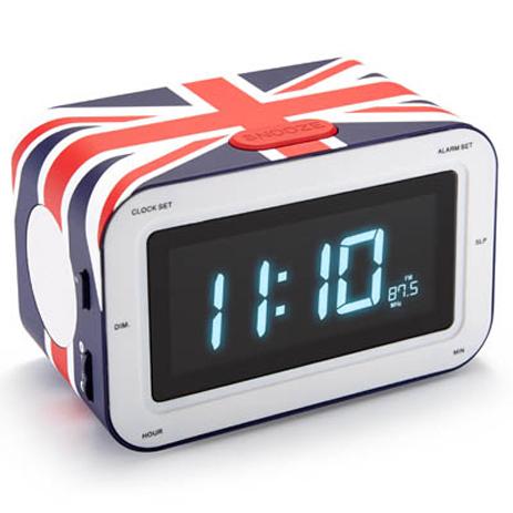 Ραδιορολόι-Ξυπνητήρι με Αγγλική Σημαία Big Ben RR30GB UK FLAG hlektrikes syskeyes texnologia eikona hxos radiocdhi fi