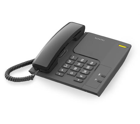 Σταθερό Τηλέφωνο Alcatel T26 Black hlektrikes syskeyes texnologia stauerh thlefonia thlefona