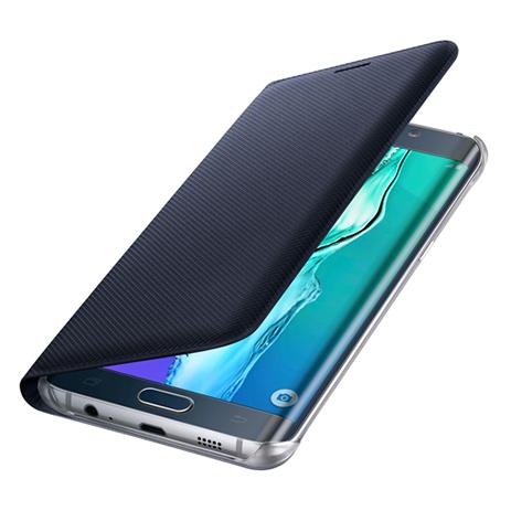Θήκη Samsung Original Flip Wallet for Samsung Galaxy S6 Edge Plus, Blue-Black (EF-WG928PBE)