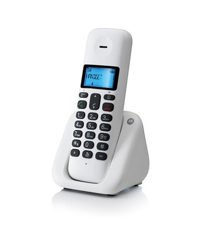 Ασύρματο Τηλέφωνο Motorola T301W Λευκό hlektrikes syskeyes texnologia stauerh thlefonia thlefona