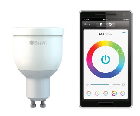 Πολύχρωμος Λαμπτήρας Smart Led Bluetooth GU10 4W Beewi BBL014A1 hlektrikes syskeyes texnologia hlektrologikos ejoplismos lampthres led