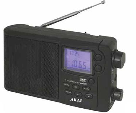 Ράδιο-Ρολόι Akai APR-2418 hlektrikes syskeyes texnologia eikona hxos radiocdhi fi