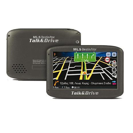 GPS MLS Destinator 433 Talk & Drive, Χάρτης Ελλάδας-Κύπρου aytokinhto mhxanh eikona hxos gps