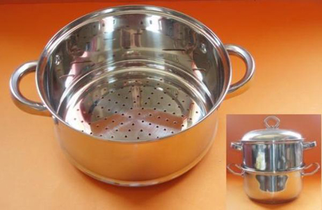Ατμομάγειρας Inox Ν.26 (D26 X H11Cm) Home&Style 616026