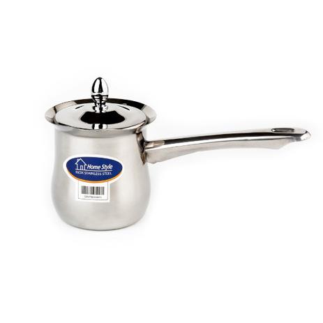 Μπρίκι Υγραερίου & Καπάκι Inox Ν.9 ( 8,5 X 10 Cm ) Home&Style 600073