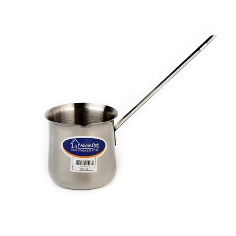 Μπρίκι Υγραερίου Inox N.3 ( 12 Oz ) Με Μεταλλικό Χέρι Home&Style 60007513