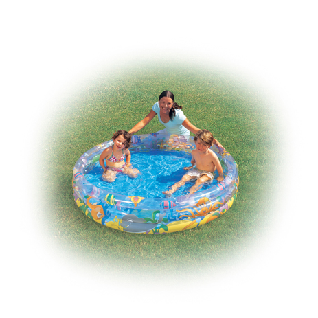 Bestway Πισίνα 3 δακτυλίων Ø122cm (15516) khpos outdoor camping epoxiaka camping ajesoyar paralias