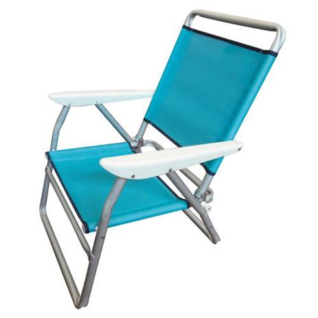 Summer Club Καρέκλα Παραλίας Αλουμινίου Φ25 – Textilene (19395) khpos outdoor camping epoxiaka camping karekles paralias