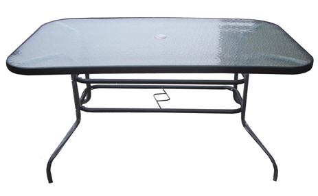 Unigreen Τραπέζι Αλουμινίου με τζάμι 120x65cm (19410)