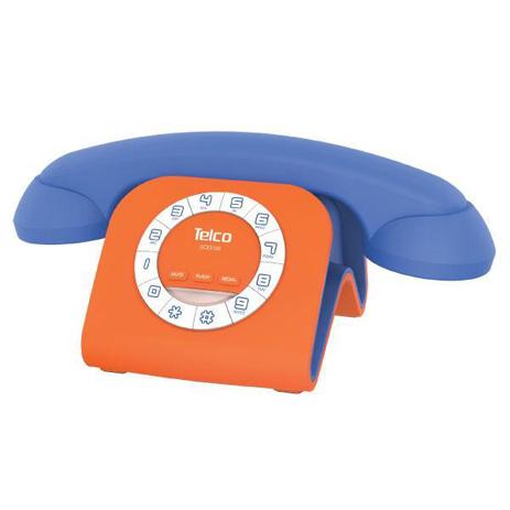 Σταθερό Τηλέφωνο Telco GCE 3100 Μπλε-Πορτοκαλί hlektrikes syskeyes texnologia stauerh thlefonia thlefona