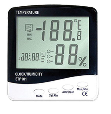 OEM Θερμόμετρο -Ρολόι ETP-101 paixnidia hobby gadgets meteorologikoi staumoi
