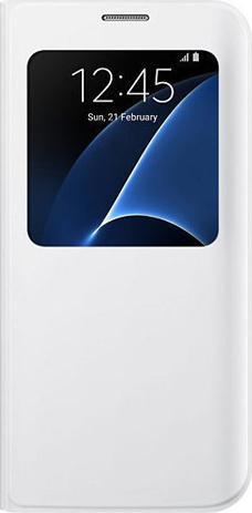 Samsung Original S View Cover for Samsung Galaxy S7, White (EF-CG930PW) hlektrikes syskeyes texnologia kinhth thlefonia prostateytikes uhkes