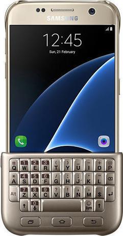 Θήκη Πληκτρολόγιο Samsung Original Galaxy S7, Gold (EJ-CG930UFE) hlektrikes syskeyes texnologia kinhth thlefonia ajesoyar