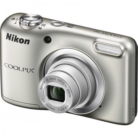 Φωτογραφική Μηχανή Nikon Coolpix A10 Silver & Θήκη paixnidia hobby fotografikes mhxanes compact