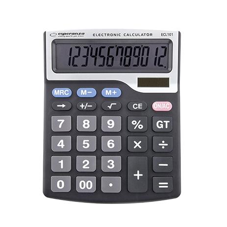 Επιτραπέζια Αριθμομηχανή με Οθόνη 12-Ψηφίων Esperanza Tales Desktop bibliopoleio eidh grafeioy ariumomhxanes