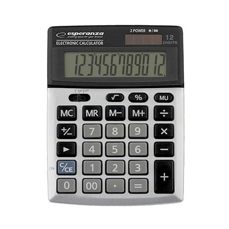 Επιτραπέζια Αριθμομηχανή με Οθόνη 12-Ψηφίων Esperanza Newton bibliopoleio eidh grafeioy ariumomhxanes