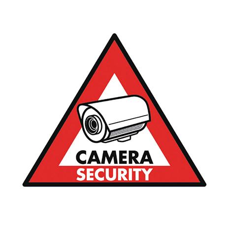 Αυτοκόλλητο Camera Security 123x148mm Konig SAS-ST-CS hlektrikes syskeyes texnologia systhmata asfaleias diafora