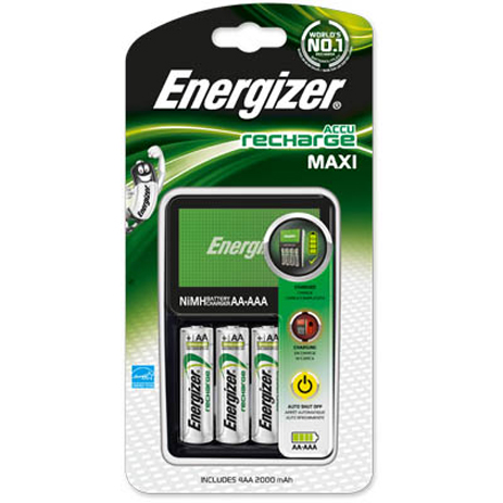 Φορτιστής Μπαταριών AA/AAA Energizer Maxi Charge & 4xAA hlektrikes syskeyes texnologia hlektrologikos ejoplismos fortistes mpatarion