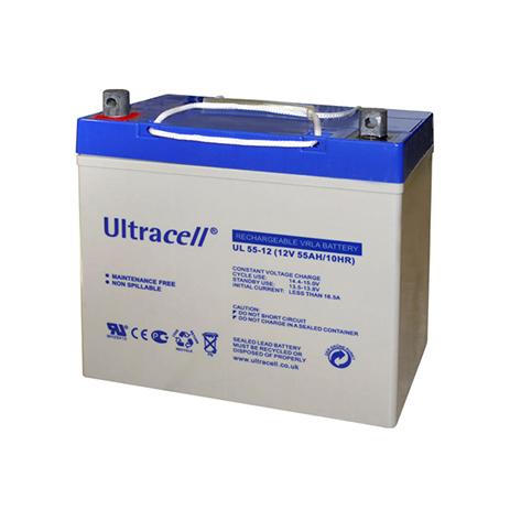 Μπαταρία Μολύβδου Ultracell 12V 55AH hlektrikes syskeyes texnologia hlektrologikos ejoplismos mpataries