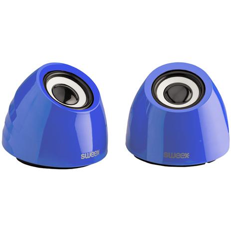 Στερεοφωνικά Ηχεία 2.0 Sweex SW20SPS100BU Μπλε hlektrikes syskeyes texnologia perifereiaka ypologiston hxeia
