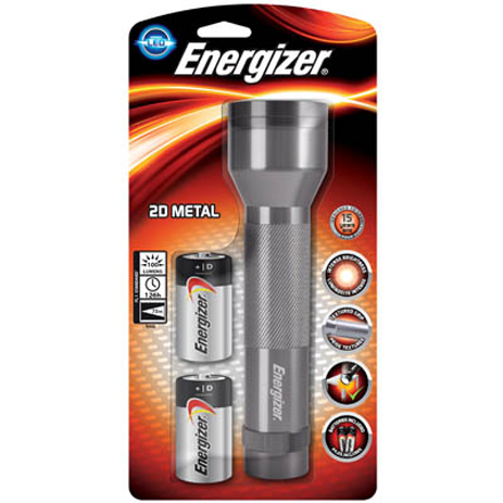 Φακός 3 Led Energizer Metal & 2xD