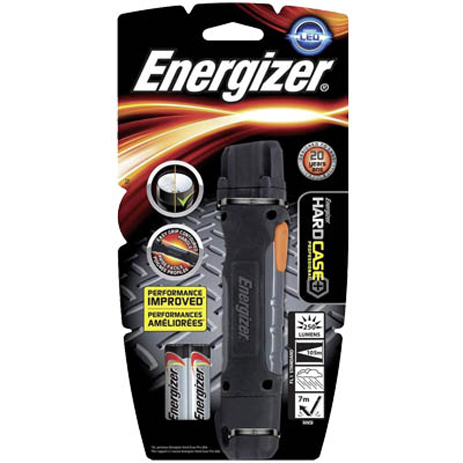 Φακός 1 Led Energizer Hardcase Pro & 2xΑΑ