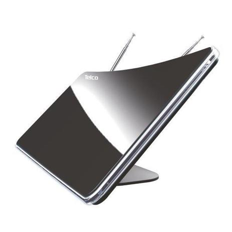 Κεραία Εσωτερικού Χώρου Κυρτή 45db Telco DVB-T836FV Μαύρη hlektrikes syskeyes texnologia eikona hxos keraies