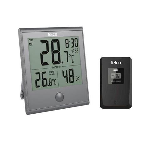 Ρολόι Μετεωρολογικός Σταθμός In & Out Telco Ε0322Τ Γκρι paixnidia hobby gadgets meteorologikoi staumoi