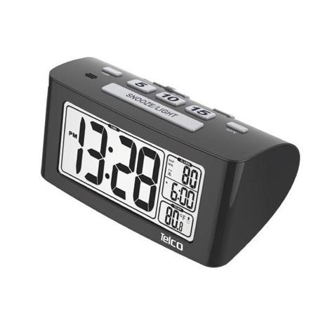 Ρολόι-Ξυπνητήρι Telco Ε0117S Μαύρο hlektrikes syskeyes texnologia eikona hxos radiocdhi fi