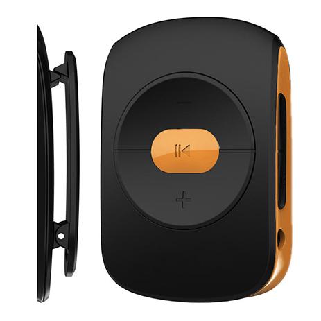 MP3 Player Osio SRM-7640BO Μαύρο/Πορτοκαλί hlektrikes syskeyes texnologia eikona hxos mp3mp4 player