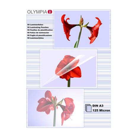 Φύλλα Πλαστικοποίησης Α3 Olympia 9183 25τμχ bibliopoleio eidh grafeioy plastikopoihshuermokollhsh
