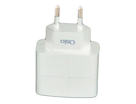 Φορτιστής Ρεύματος με 2 USB Osio OTU-285 Λευκός ergaleia kataskeyes hlektrologikos ejoplismos trofodotika