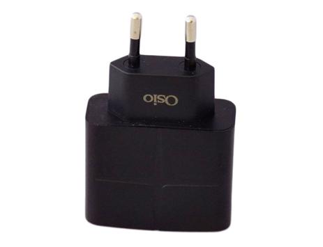 Φορτιστής Ρεύματος με 2 USB Osio OTU-285B Μαύρος ergaleia kataskeyes hlektrologikos ejoplismos trofodotika
