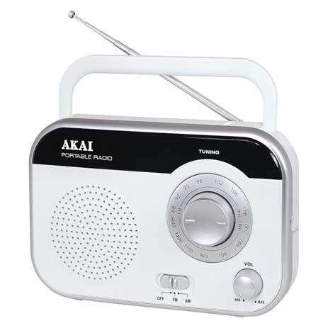 Φορητό Ραδιόφωνο Akai PR003A-410W Λευκό hlektrikes syskeyes texnologia eikona hxos radiocdhi fi