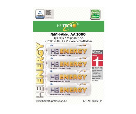 Επαναφορτιζόμενες Μπαταρίες HR6 Mignon AA 2000mAh Heitech 04002191 4τμχ bibliopoleio perifereiaka grafeioy mpataries