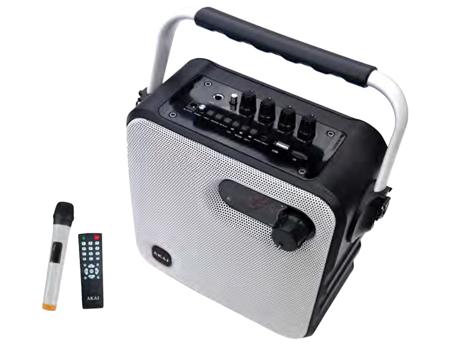 Φορητό Ηχείο Bluetooth με Ενισχυτή, Ραδιόφωνο & Μικρόφωνο Akai ABTS-T5 hlektrikes syskeyes texnologia eikona hxos radiocdhi fi