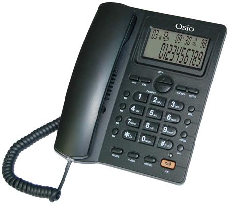 Σταθερό Τηλέφωνο με Οθόνη Osio OSW-4710B Μαύρο hlektrikes syskeyes texnologia stauerh thlefonia thlefona