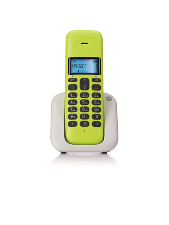 Ασύρματο Τηλέφωνο Dect Motorola T301 Lime Lemon hlektrikes syskeyes texnologia stauerh thlefonia thlefona
