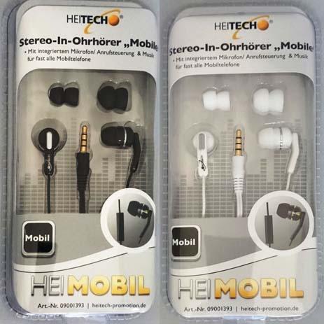 Ακουστικά Στερεοφωνικά με Μικρόφωνο 3.5mm Heitech 09001393 hlektrikes syskeyes texnologia perifereiaka ypologiston akoystika