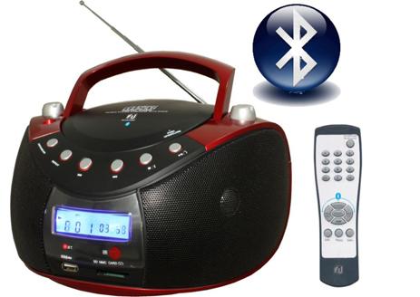 Φορητό Ραδιο-CD MP3/USB/Card Reader με Bluetooth F&U RCD9038 hlektrikes syskeyes texnologia eikona hxos radiocdhi fi