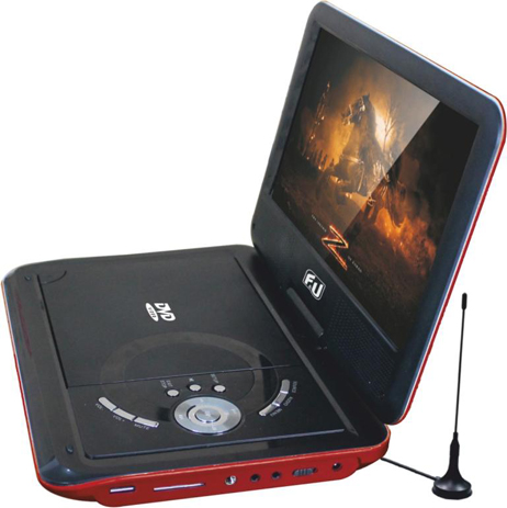 "Φορητό DVD Player & TV 9"" F&U DVT98607 hlektrikes syskeyes texnologia eikona hxos dvd player"
