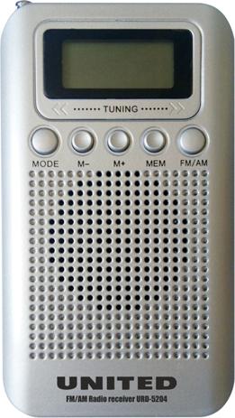 Φορητό Ψηφιακό Ραδιόφωνο AM/FM United URD 5204