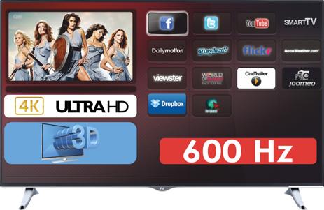 """Τηλεόραση 4K UltrahHD 3D 55"""" F&U FL3D5501UH 600Hz hlektrikes syskeyes texnologia eikona hxos thleoraseis"""