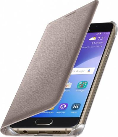Θήκη Samsung Original Flip Wallet for Samsung Galaxy A3, Gold (EF-WA310PFEGWW) hlektrikes syskeyes texnologia kinhth thlefonia tsantes uhkes