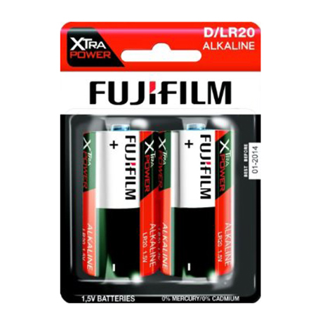 Μπαταρίες Αλκαλικές D/LR20 1.5V Fujifilm LR20-FUJIF 2τμχ bibliopoleio perifereiaka grafeioy mpataries