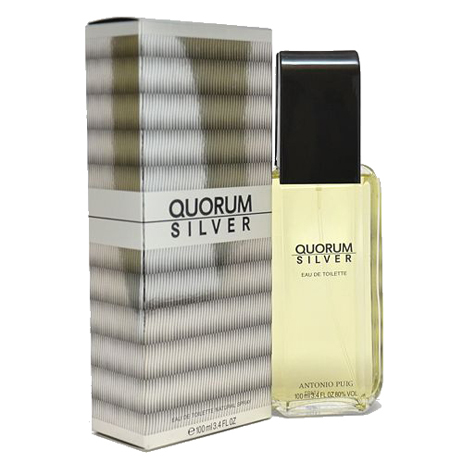Antonio Puig Quorum Silver Eau De Toilette 100ml fashion365 aromata andrika aromata