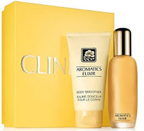 Clinique Aromatics Elixir Duo Gift Set Eau de Parfum 45ml & Body Smoother 75ml & fashion365 aromata gynaikeia aromata